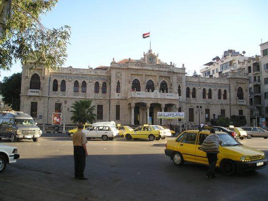 2. Abdülhamid dönemi yapılan Şam (Dimeşk) Garı Demiryolları Tren Garları TCDD II. Abdülhamid Han Treni Demiryolu Projesi İstasyonu
