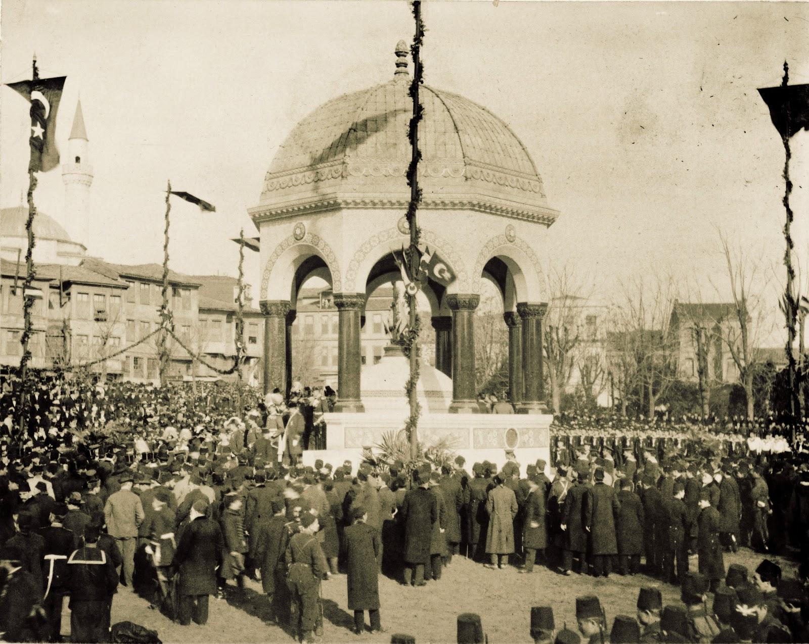 Alman Çeşmesi German Fountain. Almanya Kayzer Ziyareti İkinci Abdülhamid Hanı Memnun Etmiş. Alman İmparatoru II. Wilhelm'den Osmanlı Sultan Abdül Hamid Dost Ziyareti
