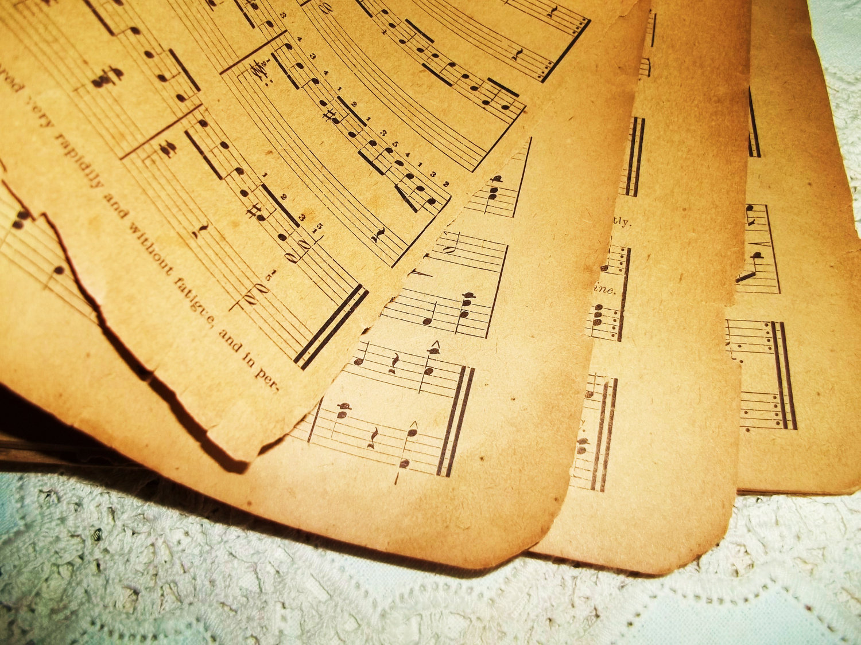Eski Tarihi Osmanlı Müzik Musiki Sayfaları Notaları Defter Kiatapları Ottoman Old Musical Scores Notebooks Sheets Wallpaper Music Notes Paper Text
