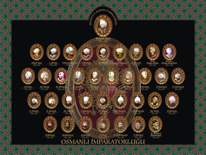 Osmanlı Sultanları Aile Soy Ağacı şeceresi Osmanlı Sultanı 2