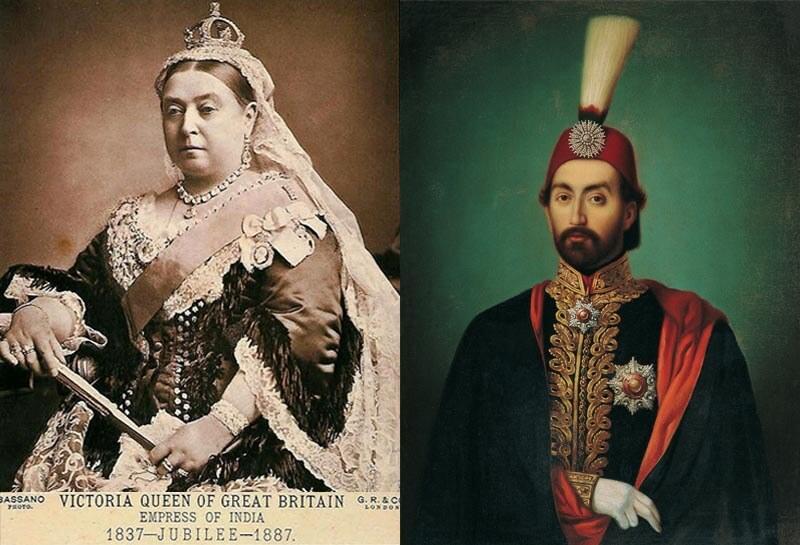 Osmanlının İrlandaya YardımıSultan Abdülmecid. Ingiltere Kralicesi Ve Sultan Abdulmecid. Sinema Film Oluyor