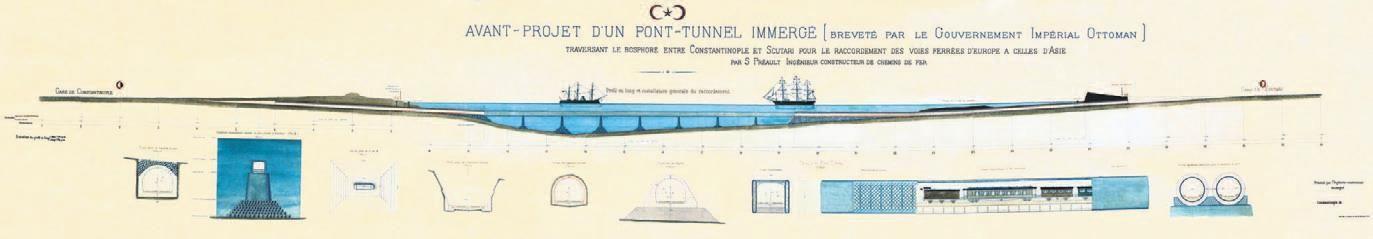 Preaultun Projesinin Tarihsiz şekli. Sultan Abdülhamid Han'ın Avrasya Geçit Tüneli Rüyası Gerçek Oldu