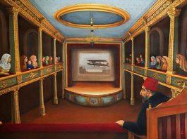 Osmanlı Devleti Ve Sarayı Operaları Ve Operetleri Yıldız Sarayları Tiyatrosu Abdülhamid Han Sanatı Kültürü Konseri Operası Ve Tiyarosu Salonu. İstanbul Yildiz Operasi