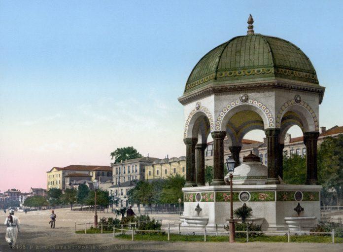 Osmanlı Devleti Türk Alman Dostluğu Geçmişi Perde Arkası .Alman Çeşmesi German Fountain. Almanya Kayzer Ziyareti İkinci Abdülhamid Hanı Memnun Etmiş